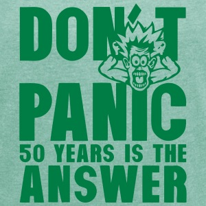 50 years don t panic birthday is the T-Shirts - Women's T-shirt with rolled up sleeves