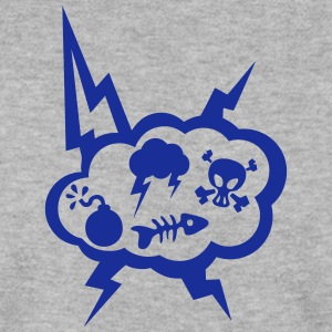 skull loud dead head bubble fish icon Hoodies & Sweatshirts - Men's Sweatshirt