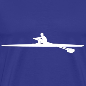 rowing single - man T-shirts - Herre premium T-shirt
