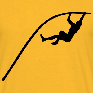 Pole vaulting - man T-Shirts - Men's T-Shirt