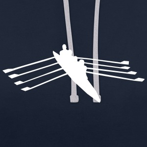 Rowing - quad skull Hoodies & Sweatshirts - Contrast Colour Hoodie