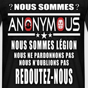 nous sommes anonymous Tee shirts - T-shirt Homme