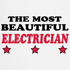 The most beautiful electrician 222  Aprons - Cooking Apron