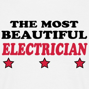 The most beautiful electrician 222 T-shirts - Mannen T-shirt