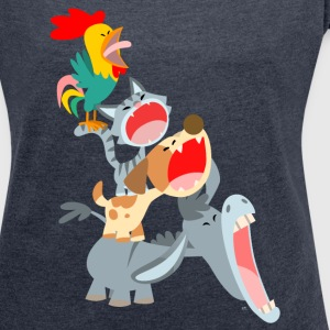 Bremen Town Musicians by Cheerful Madness!! T-Shirts - Women's T-shirt with rolled up sleeves