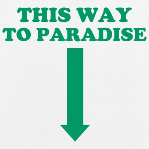 THIS WAY TO PARADISE Bags & Backpacks - EarthPositive Tote Bag