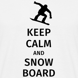 keep calm and snowboard T-shirts - Mannen T-shirt