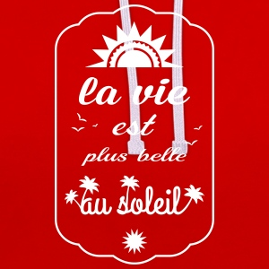 la vie est plus belle Sweat-shirts - Sweat-shirt contraste