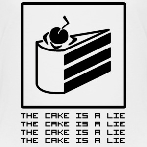 THE CAKE IS A LIE Skjorter - Premium T-skjorte for barn