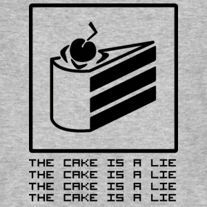 THE CAKE IS A LIE Tee shirts - T-shirt bio Homme