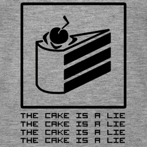 THE CAKE IS A LIE Topper - Premium singlet for kvinner