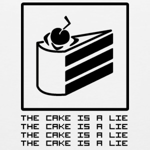 THE CAKE IS A LIE Tanktops - Mannen Premium tank top