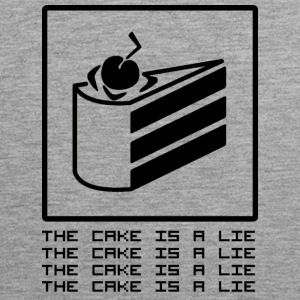 THE CAKE IS A LIE Tank Tops - Tank top premium hombre