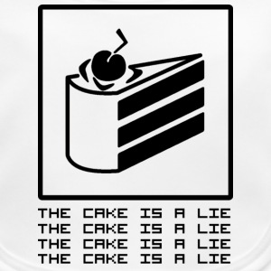 THE CAKE IS A LIE Accesorios - Babero ecológico bebé