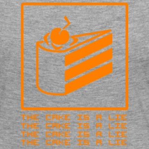 THE CAKE IS A LIE Long Sleeve Shirts - Women's Premium Longsleeve Shirt