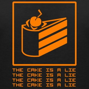 THE CAKE IS A LIE T-Shirts - Women's V-Neck T-Shirt