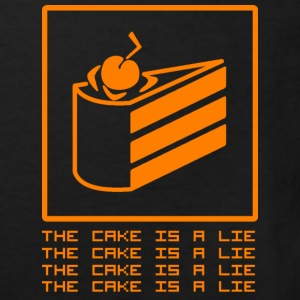 THE CAKE IS A LIE Skjorter - Økologisk T-skjorte for barn