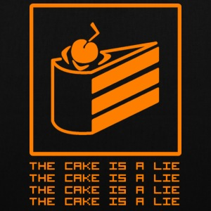 THE CAKE IS A LIE Sacs et sacs à dos - Tote Bag