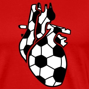 Football Heart Organ T-shirts - Mannen Premium T-shirt
