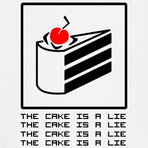 THE CAKE IS A LIE Langarmede T-skjorter - Langarmet baby-T-skjorte