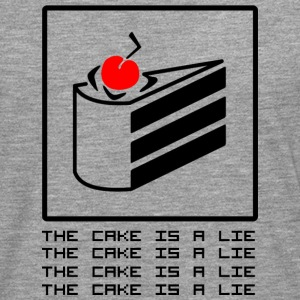 THE CAKE IS A LIE Long sleeve shirts - Men's Premium Longsleeve Shirt