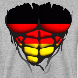 allemagne drapeau torse corps muscle Sweat-shirts - Sweat-shirt Homme