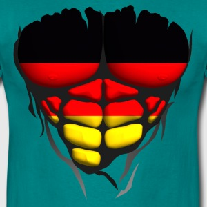 Germany flag torso body muscle abdos T-Shirts - Men's T-Shirt