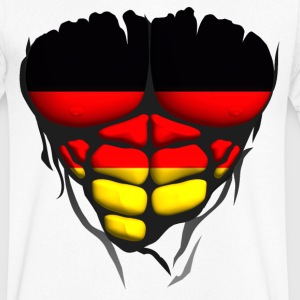 allemagne drapeau torse corps muscle Tee shirts - T-shirt Homme col V
