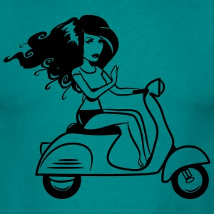 Scooter girl sexy T-Shirts - Men's T-Shirt