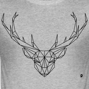 AD Geometric Deer T-Shirts - Männer Slim Fit T-Shirt
