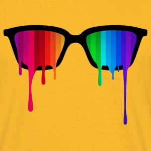 Rainbow - Spectrum (Pride) / Hipster Nerd Glasses Tee shirts - T-shirt Homme