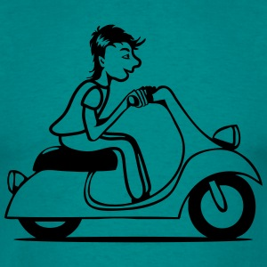 Scooter driving young T-Shirts - Men's T-Shirt