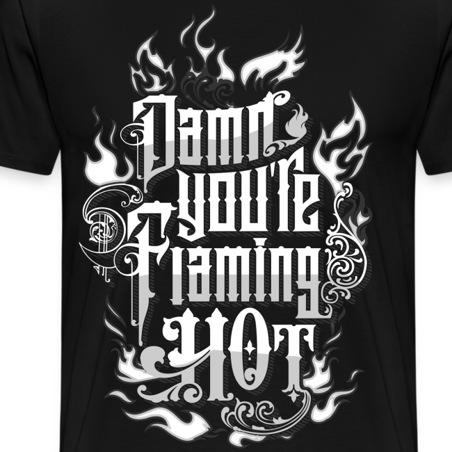Flaming Hot (White) (unisex)