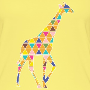 A colorful graphic Giraffe Tops - Women's Organic Tank Top