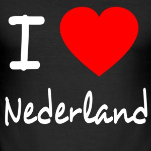 I LOVE THE NETHERLANDS T-Shirts - Men's Slim Fit T-Shirt
