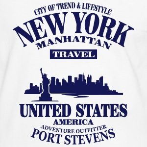 New York Skyline - United States T-Shirts - Men's Ringer Shirt