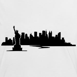New York Skyline - United States T-Shirts - Frauen Kontrast-T-Shirt