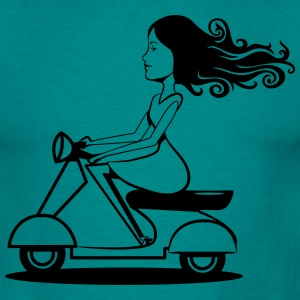 Scooter driving woman girl T-Shirts - Men's T-Shirt