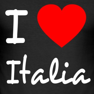I LOVE ITALY T-shirts - Herre Slim Fit T-Shirt