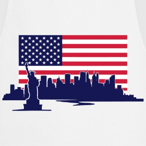 New York Skyline - United States Flag  Aprons - Cooking Apron