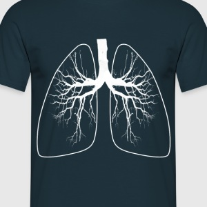 T SHIRT HOMME POUMON, RESPIRATION - T-shirt Homme