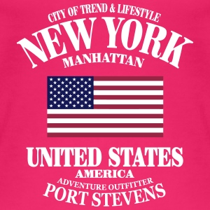 New York  - United States Flag Tops - Women's Organic Tank Top