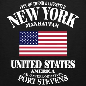 New York  - United States Flag Sports wear - Men's Premium Tank Top