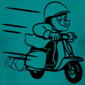 Scooter ride comic humoristisk T-shirts - Herre-T-shirt