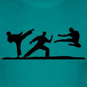 Martial Arts - 3 Fighters Tee shirts - T-shirt Homme