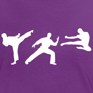 Martial Arts - 3 Fighters T-shirts - Kontrast-T-shirt dam