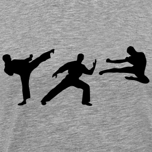 Martial Arts - 3 Fighters T-skjorter - Premium T-skjorte for menn