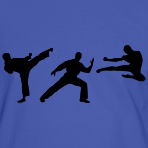 Martial Arts - 3 Fighters T-shirts - Herre kontrast-T-shirt