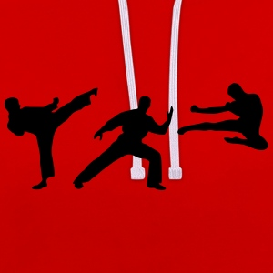 Martial Arts - 3 Fighters Hoodies & Sweatshirts - Contrast Colour Hoodie