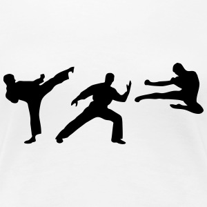 Martial Arts - 3 Fighters Camisetas - Camiseta premium mujer